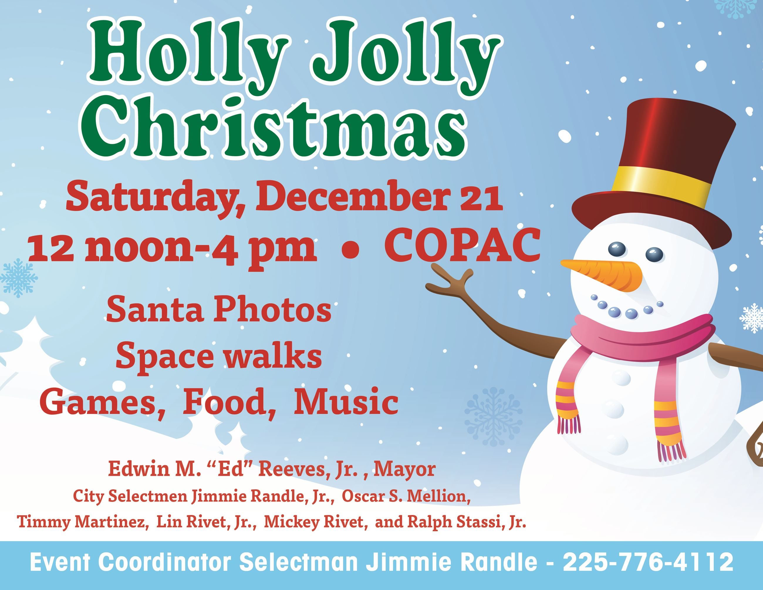 Holly Jolly Christmas flyer